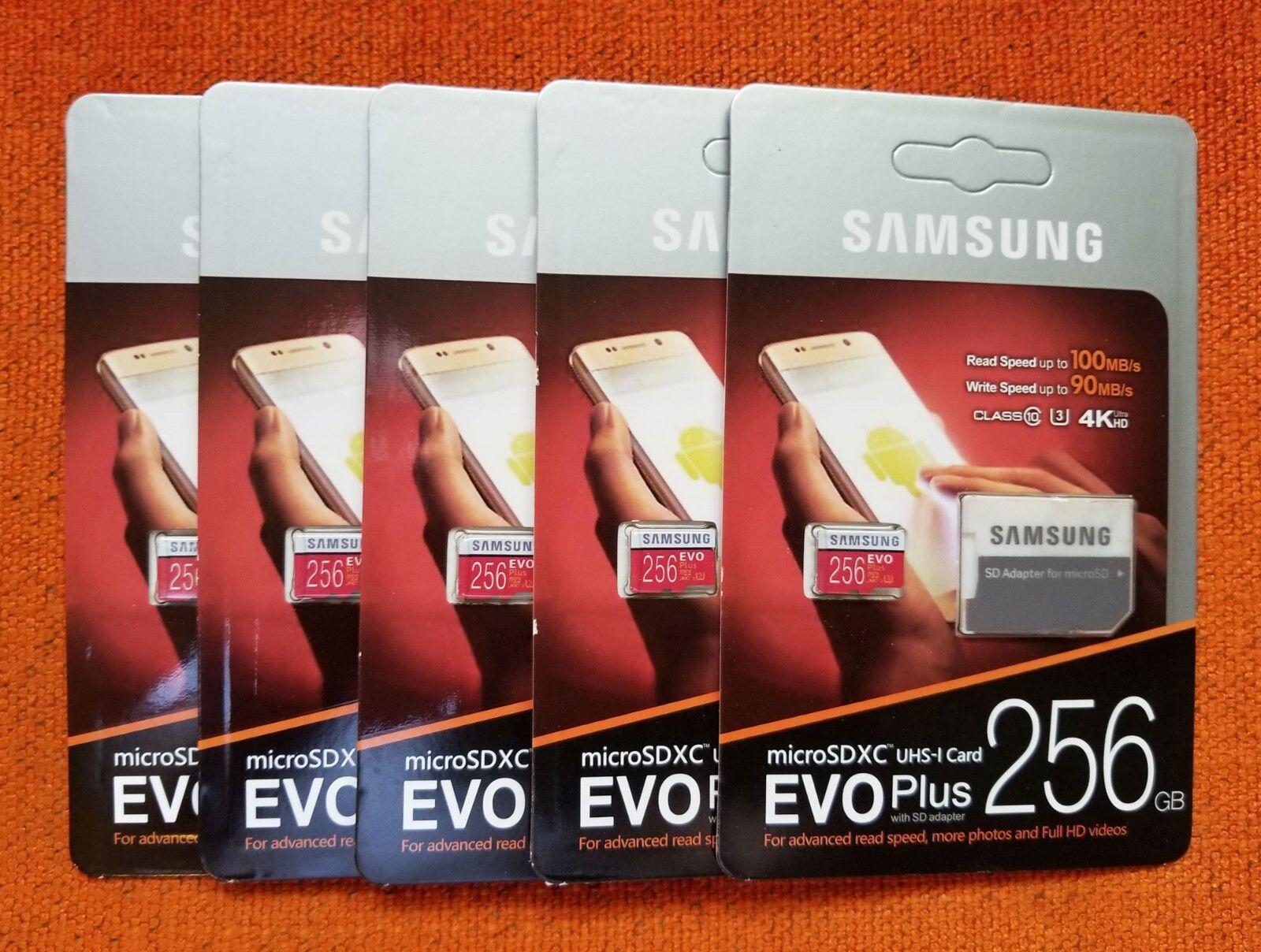 Купить Samsung - Samsung Evo Plus 256GB MicroSDXC UHS-1 U3 Class 10 Micro SD Memory Card Fast New