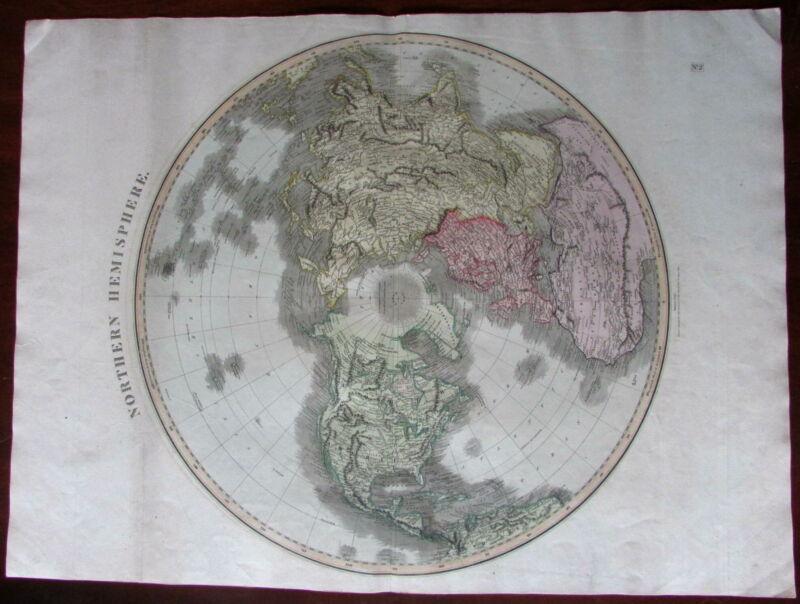 Northern Hemisphere North America Africa Asia 1814 world map