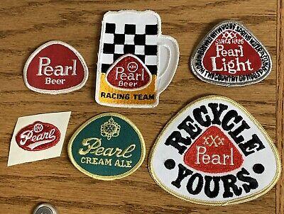 1969-80 Pearl beer 6 Patch set  - San Antonio Texas - Unused