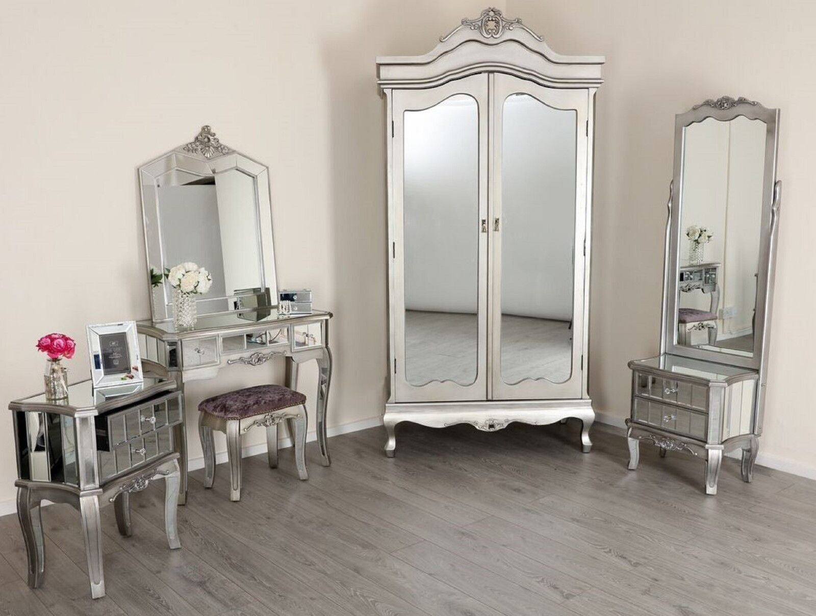 Mirrored Silver French Style Mirror Gold Shabby Chic