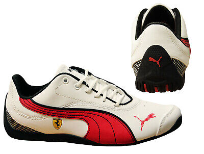Puma Drift Cat III Scuderia Ferrari Leather Lace Up JR Trainers 303363 01 X10B
