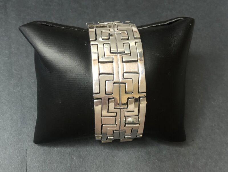 """Estate Vintage Sterling Silver 925 Taxco Mexico Link Bracelet 147.42g 7 3/4"""""""