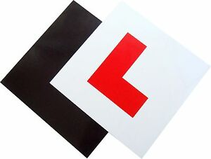 2 PACK PREMIUM FULLY MAGNETIC LEARNER DRIVER L PLATES FOR CAR BIKE