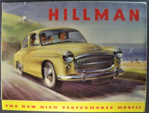 1955 Hillman Minx Brochure Conv. Californian Estate Car Wagon Nice Original 55