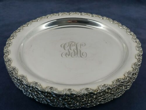 Set of 12 Gorham Sterling Silver Heavy Plates (156 ozt total)  - Ships Free USA