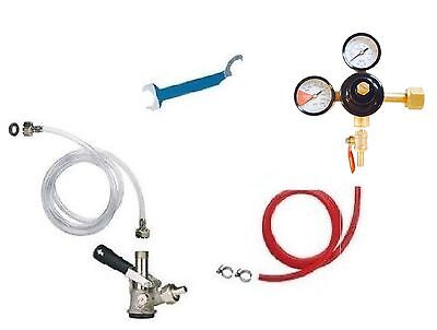 Beer Jockey Box Keg Single Faucet Kegerator Conversion Hose Keg Couplers Kit