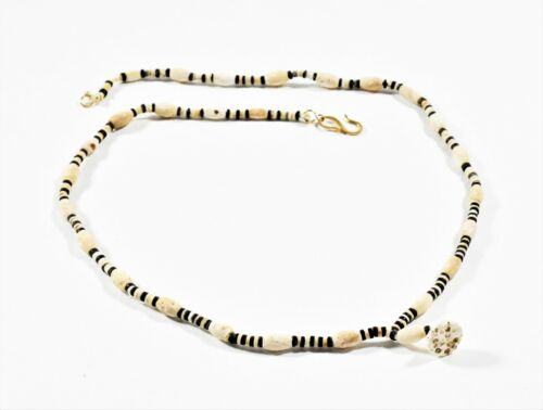 RARE ITEMS A Bactrian Stone and Shell Beads Necklace