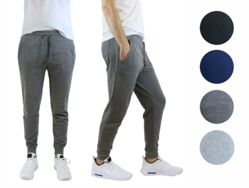 4 Pack Mens Jogger Pants Sweatpants Active Gym Lounge Sleep Slim Fit Nwt