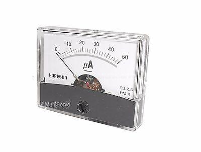 50ua Panel Meter Analog Microamp 0-50