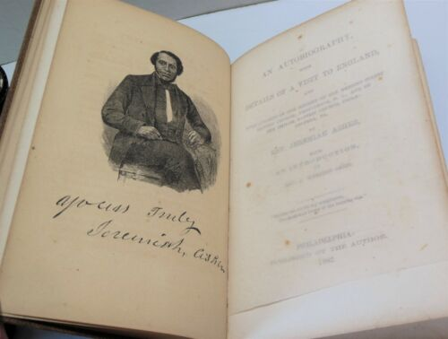 JEREMIAH ASHER 1862 Edition Autobiography African American Cleric Free Man Life