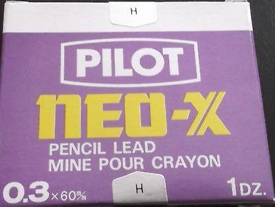 Pilot Neo-xs Pencil Lead 0.3 H 12 Dozen 144 Leads New Sealed Box Free Sh