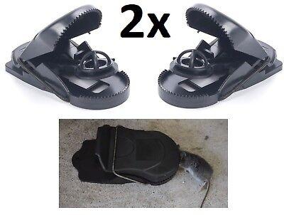 2x LARGE Shark Tooth Snap RAT Trap Set Reusable Pest Control Easy Set up