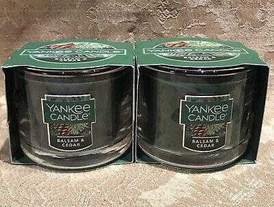 Yankee Candle BALSAM & CEDAR MINI GLASS VOTIVE CANDLE SET (1.3 oz) Each