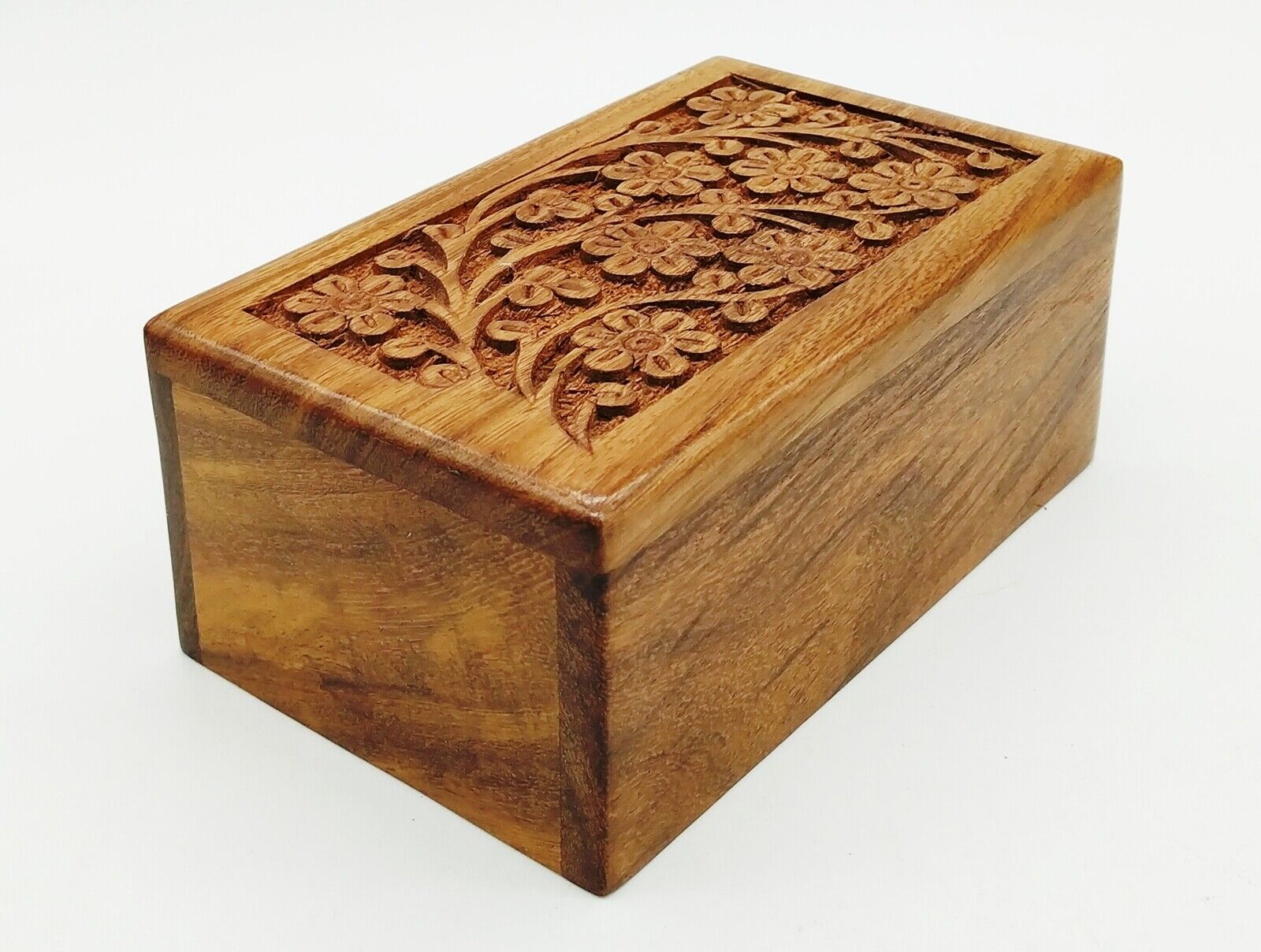 cremation Urn For Pet Ashes Small Wooden Dog Cat Memorial Ke