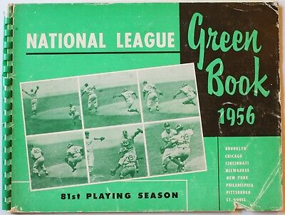 1956 National League Green Book Stats Batting Pitching Rosters Awards Baseball