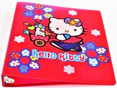 HELLO KITTY 3 RING BINDER | FLOWER POWER ()