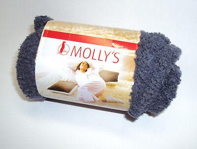 MOLLY'S Kuschelsocken Socken warm flauschig BNS Schlafsocken Strümpfe - Grau