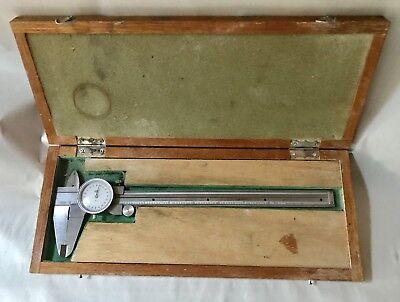 Kanon Dial Caliper 0 - 8  Model 15746 In Original Wooden Case