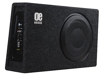 "EO 12"" Sub woofer built in AMP Amplified Active Slim Shallow bassbox Power"