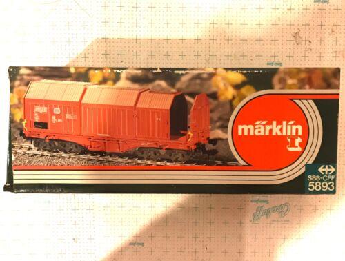 Märklin Marklin 1 Gauge 5893 DB Telescopic Wagon & 3 Steel Rolls OB