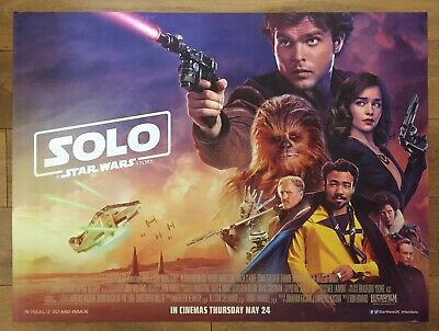 "Solo: A Star Wars Story (2018), Original UK Cinema Main Quad Poster 30""x40"""