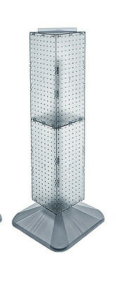 Clear 4-sided Pegboard Display On Revolving Base 8w X 40h Inches