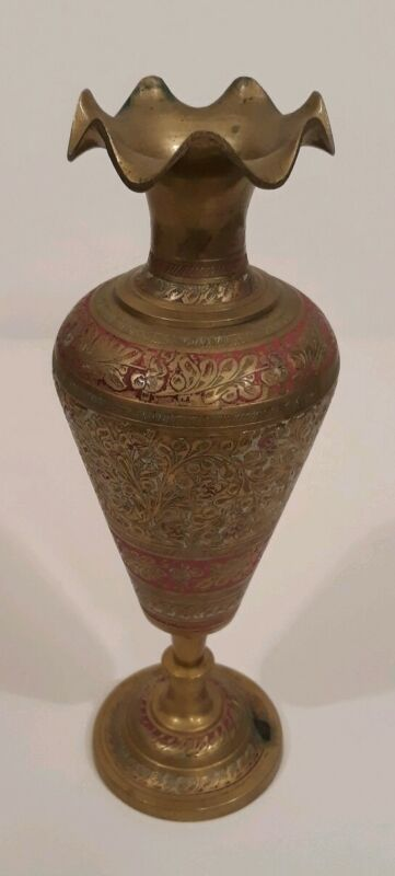 Antique 1831 Brass Vase From India