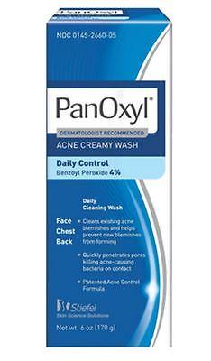 PanOxyl 4 Acne Creamy Wash, 4% Benzoyl Peroxide 6 oz