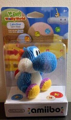Brand New Nintendo Blue Yarn Yoshi Woolly World Amiibo. Switch, Wii U, 3DS