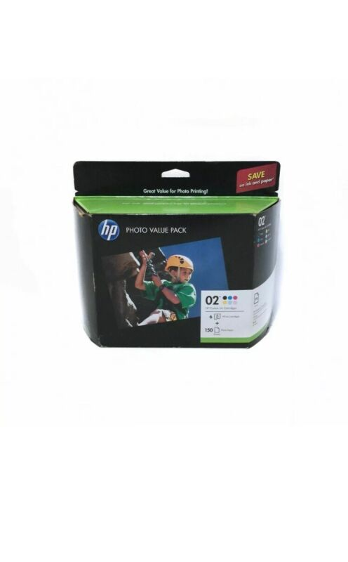 HP 02 Vivera Ink 6-Pack and Photo Paper Kit Q7964AN#140
