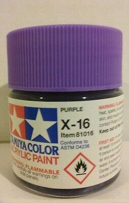 Tamiya acrylic paint X-16 Purple 23ml