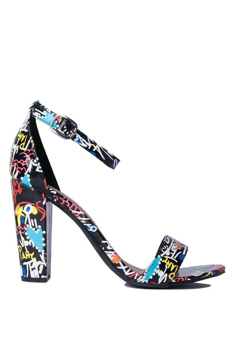 Women's Block Heel Single Band Ankle Strap Open Toe Dress Sandal Frenzy-69S