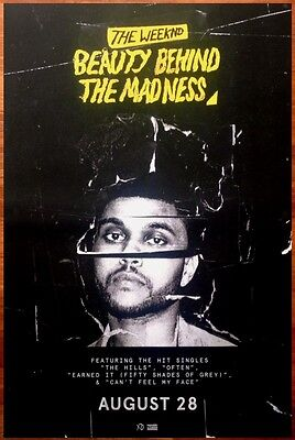 THE WEEKND Beauty Behind The Madness Ltd Ed Discontinued RARE HUGE Poster! XO