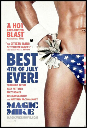 Magic Mike FRIDGE MAGNET 6x8 Sexy Male Stripper Magnetic Movie Poster