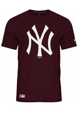 NEW ERA-MLB New York Yankees Team Logo T-Shirt-Maroon Red Size Medium