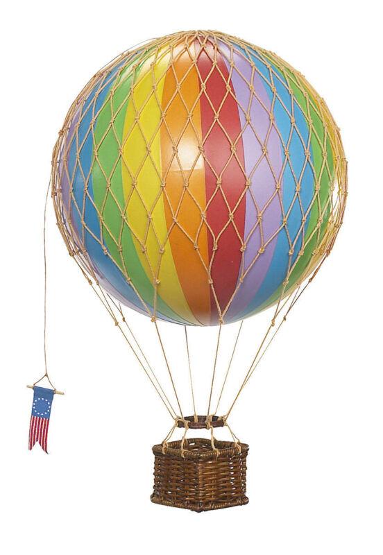 Authentic Models Hot Air Balloon Rainbow Stripe Mobile 18cm
