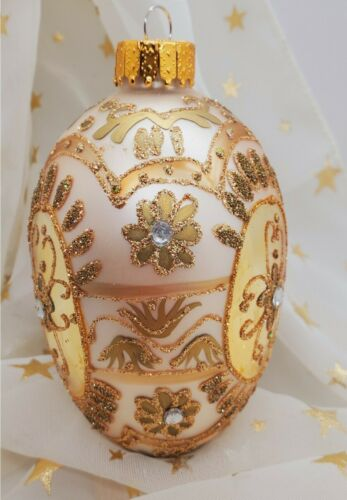 Department 56 Faberge Inspired Glass Jeweled Glittered Egg Ornament - Nobility