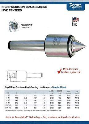 Royal High Precision Quad Bearing Live Center Mt5 10415