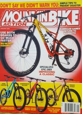 Mountain Bike Action Jan 2018 Specialized Epic 29ER Kona ProcessFREE SHIPPING CB