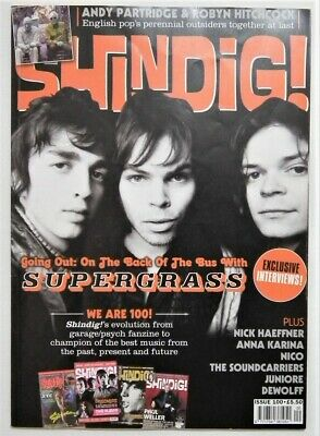 SHINDIG MAGAZINE Issue 100 Feb 2020 Supergrass Anna Karina Nick Haeffner Nico VG