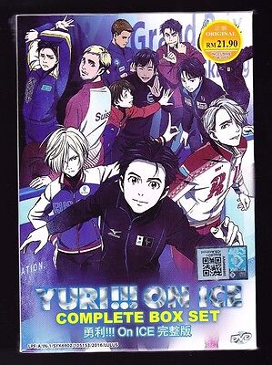New  Yuri   On Ice  12 Episodes English Dubbed Anime Dvd Us Seller Free Ship