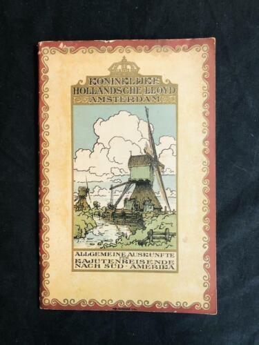ROYAL HOLLAND LLOYD Koninklijke Hollandsche SOUTH AMERICA SERVICES BOOK, 1922