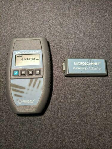 Black Box Fluke Microtest MicroScanner Cat5 Network Tester + Wiremap Adapter