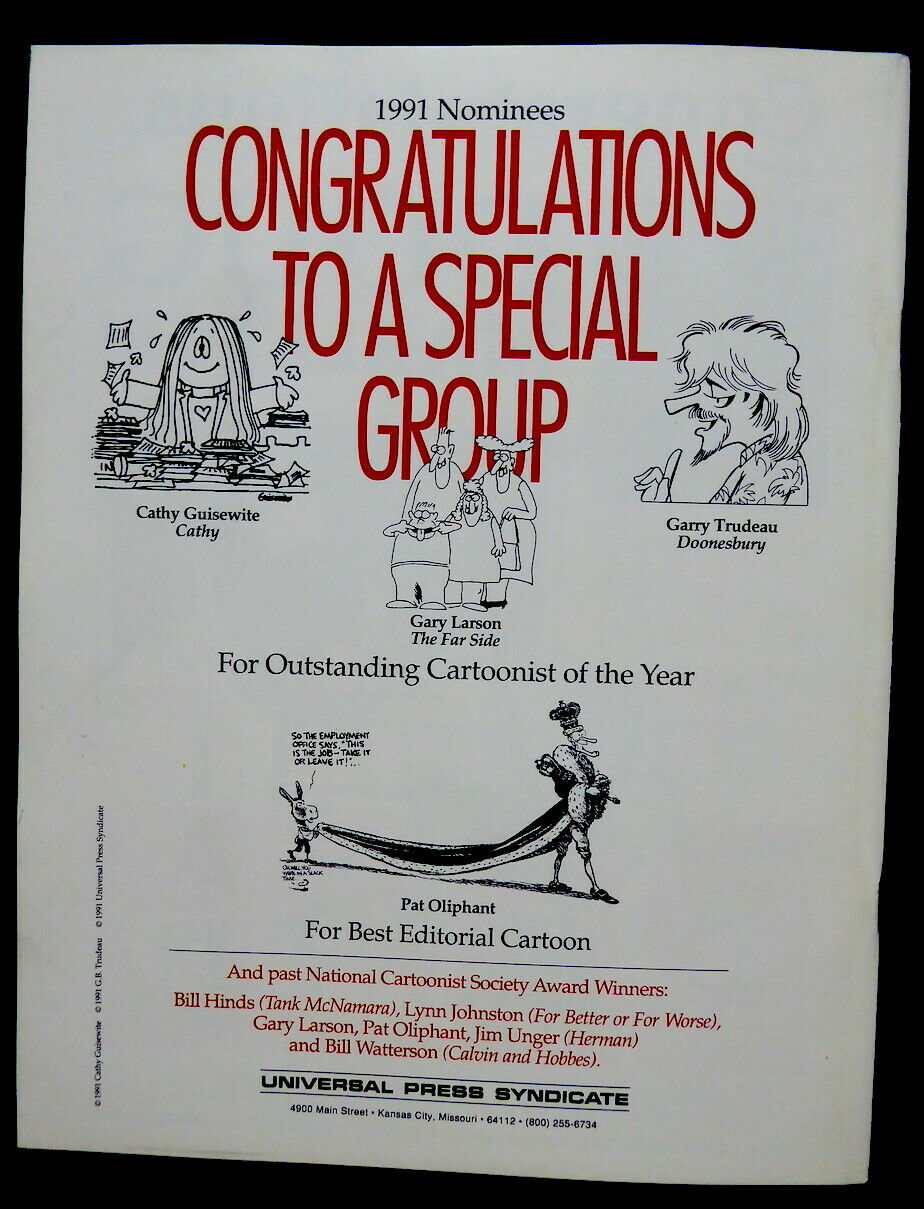 5 NATIONAL CARTOONIST S SOCIETY JOURNALS 1991 2010 FROM MELL LAZARUS ESTATE - $9.99