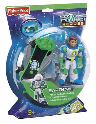 "Fisher-Price Planet Heroes Earth ""Ace"" Action Figure Set - Skateboard Transforms"