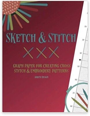 Sketch Stitch Graph Paper Notebook Charting Needlework Embroidery Cross Stitch