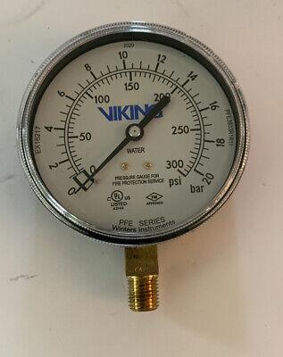 Viking Fire Sprinkler Systems Pressure Gauge 0 - 300 Psi Pfe3933r1r11