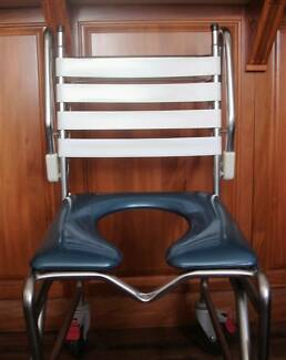 Shower/Commode Stainless Steel Wheelchair by K-Care