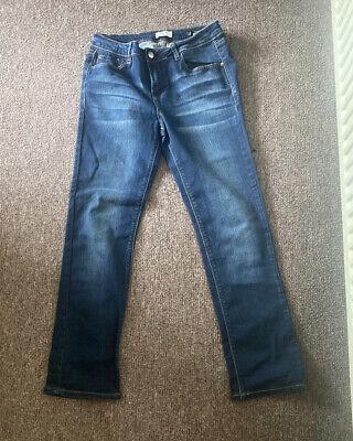 Kensie Jeans Dark Denim Tomboy Straight Leg Jeans Size 10