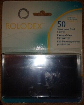 Rolodex 50 Transparent Card Protectors Sleeves 2 12 X 4 67650 New Sealed